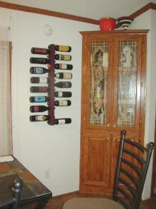 purpleheart wine rack