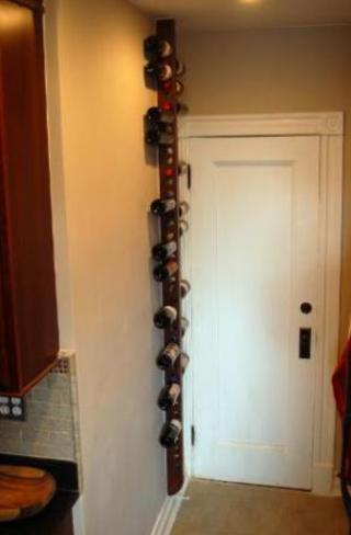 cherry wood wall mounted wine rack