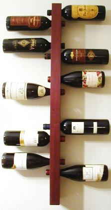 wall mounted wine rack display storage